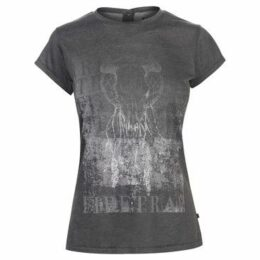 Firetrap  Clash T Shirt Ladies  women's T shirt in Grey