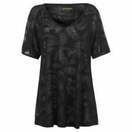 Golddigga  Beach Cover Up T Shirt Ladies  women's T shirt in Black
