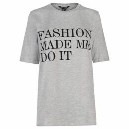Golddigga  Roll Sleeve T Shirt Ladies  women's T shirt in Grey