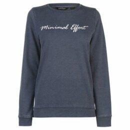 Golddigga  Slogan Sweater Ladies  women's Sweatshirt in Blue