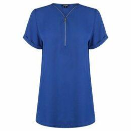 Golddigga  Woven Top Ladies  women's Blouse in Blue