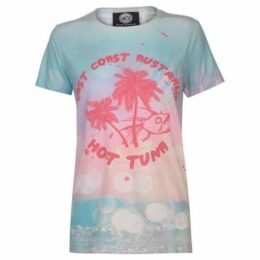 Hot Tuna  Sublimation T Shirt Ladies  women's T shirt in Blue