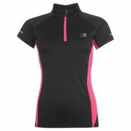 Karrimor  quarter Zip Short Sleeve T Shirt Ladies  women's T shirt in Black