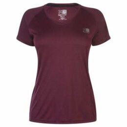 Karrimor  Short Sleeve Run T Shirt Ladies  women's T shirt in Red