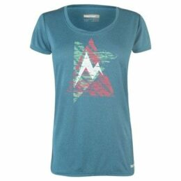 Marmot  Post Time T Shirt Ladies  women's T shirt in Blue