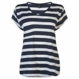 Miso  V Neck T Shirt Ladies  women's T shirt in Multicolour