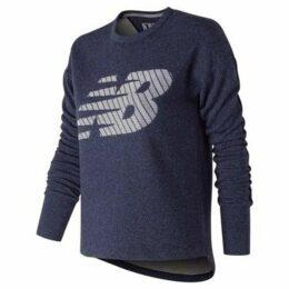 New Balance  Fleece Crew Sweatshirt Ladies  women's Sweatshirt in Blue