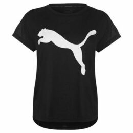 Puma  Urban Sports T Shirt Ladies  women's T shirt in Black