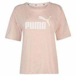 Puma  Boyfriend Crew T Shirt Ladies  women's T shirt in Pink
