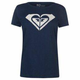 Roxy  My Heart T Shirt Ladies  women's T shirt in Blue