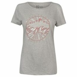 Roxy  Snow Water T Shirt Ladies  women's T shirt in Grey