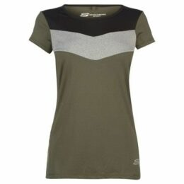 Skechers  Chevron T Shirt Ladies  women's T shirt in Green