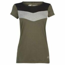 Skechers  Chevron T Shirt Ladies  women's T shirt in Green