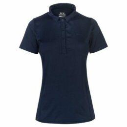 Slazenger  Plain Polo Shirt Ladies  women's Polo shirt in Blue