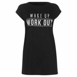 Usa Pro  Slogan T Shirt Ladies  women's T shirt in Black