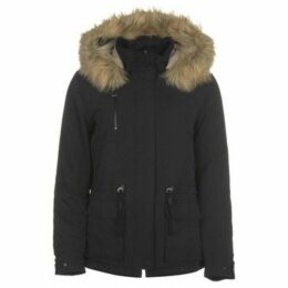 Only  Star Fur Parka  women's Parka in Black