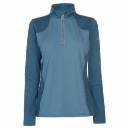Requisite  Ladies Zip Tech Top  women's Tracksuit jacket in Blue