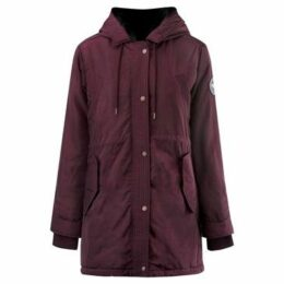 Soulcal  Classic Parka Coat Ladies  women's Parka in Purple