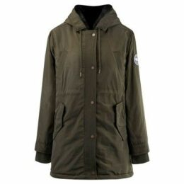 Soulcal  Classic Parka Coat Ladies  women's Parka in Green