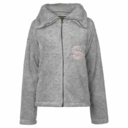 Soulcal  Snug Zip Top Ladies  women's Fleece jacket in Grey
