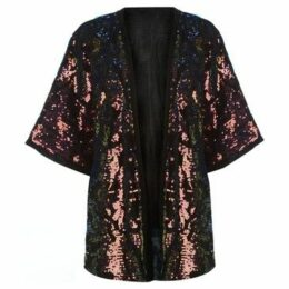 Golddigga  Sequin Kaftan Ladies  women's Jacket in Multicolour
