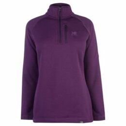 Karrimor  Surge half Zip Top Ladies  women's Fleece jacket in Purple