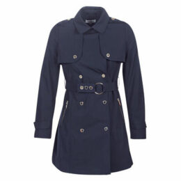 Morgan  GENA  women's Trench Coat in Blue