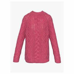 Gerard Darel Sun Cable Knit Jumper, Pink