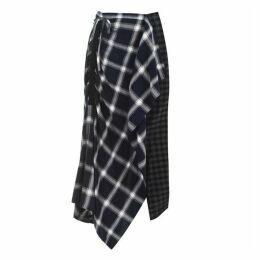 McQ Alexander McQueen Check Drawstring Skirt