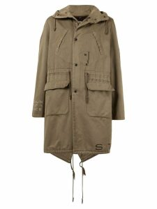 Raf Simons Pre-Owned 2003 AW Saville Fishtail parka coat - Brown