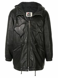 Issey Miyake Pre-Owned 1980's Sport Line padded logo leather jacket -