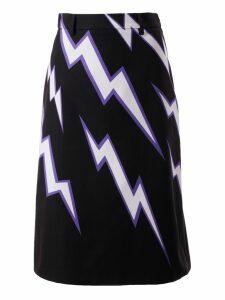 Prada Thunder Print Skirt