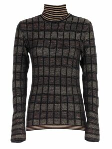 Antonio Marras Sweater L/s Turtle Neck Check Lurex