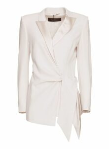 Max Mara Cady And Silk Satin Blazer