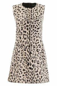 Dolce & Gabbana Leopard-print Faux Fur Mini Dress
