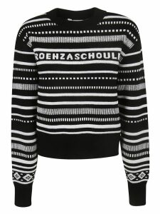 Proenza Schouler Long Sleeve Cropped Sweater