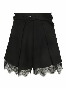 Laced Detail Belted Skirt