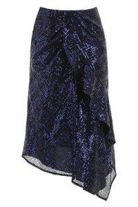 self-portrait Sequins-covered Skirt