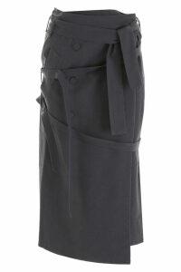 Rokh Wrap Midi Skirt