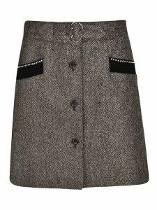 Miu Miu Buttoned Skirt