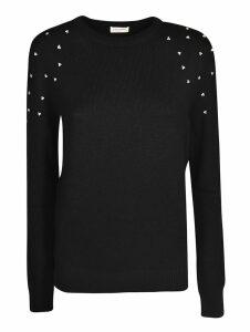 Saint Laurent Studded Shoulder Sweater