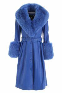 Saks Potts Leather Foxy Coat