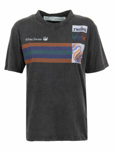 Off-White Olympic Print Casual Tee Black Multicolo