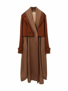 Chloé Two Fabric Coat - Long Drape