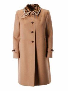 Miu Miu Embellished Collar Coat