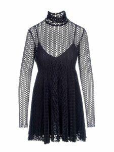 Philosophy Mesh Layered Mini Dress