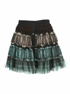 Wandering Lace Ruffled Skirt