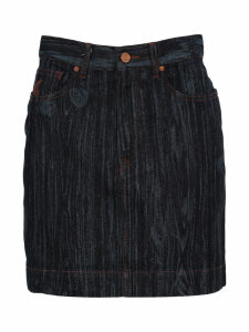 Anglomania Wood Effect Denim Skirt