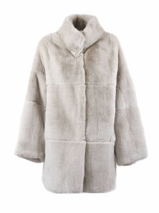 S.W.O.R.D 6.6.44 Pink Rabbit Fur Shearling Button-up Coat