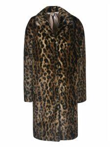 N.21 Leopard Print Faux Fur Coat